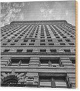 Flatiron Building Sky Black And White Wood Print