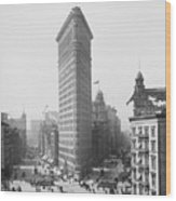 Flatiron Building - Vintage New York - 1902 Wood Print