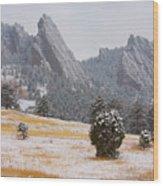 Flatiron Meadows - Boulder Colorado Wood Print