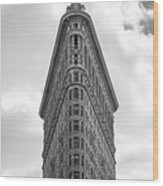 Flatiron Skies Wood Print
