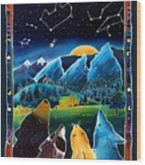 Flatirons Stargazing Wood Print by Harriet Peck Taylor