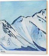 Flattop Through Ptarmigan Peak, Alaska Wood Print