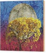 Flavo Luna In Ligno Wood Print