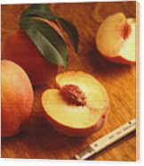 Flavorcrest Peaches Wood Print