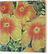 Flax Wood Print