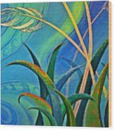 Flax Harakeke By Reina Cottier Wood Print
