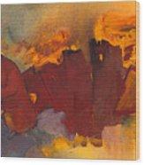 Fleeing The Inferno Wood Print