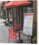Flemington, Nj - Sidewalk Cafe Wood Print