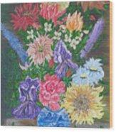 Flemish Floral Wood Print