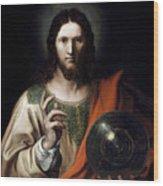 Flemish Salvator Mundi Wood Print