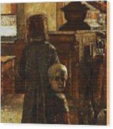 Flemish Tavern Wood Print