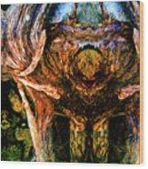 Flesh Speaks Wood Listens Wood Print