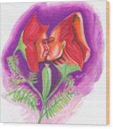Fleur D'amour Wood Print