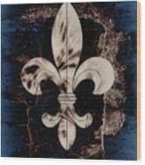 Fleur De Lis Wood Print