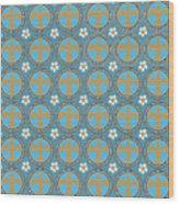 Fleur De Lis Pattern No. 2 Wood Print