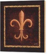 Fleur De Lys-king Louis Vii Wood Print