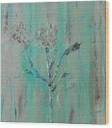 Fleur De Sage Wood Print