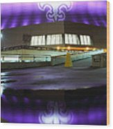Fleur Di Lis Reflected Wood Print by Pixel Perfect by Michael Moore