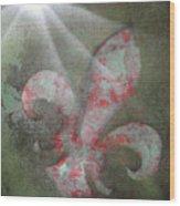 Fleur Di Lis Wood Print