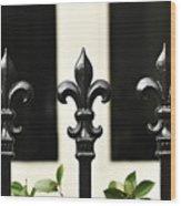 Fleur Di Lis Trio Wood Print