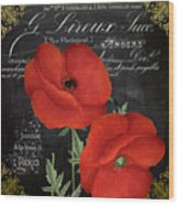 Fleur Du Jour Poppy Wood Print