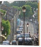 Fleurance City Wood Print