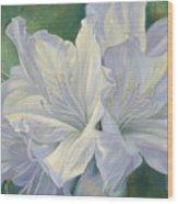 Fleurs Blanches Wood Print