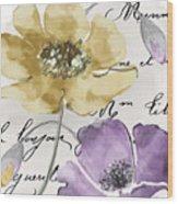Fleurs De France II Wood Print