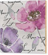 Fleurs De France IIi Wood Print