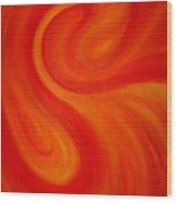 Flicker Of Heat Wood Print