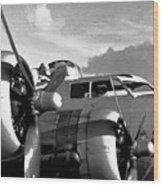 Flight Check Wood Print