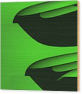 Flight - Green Version Wood Print