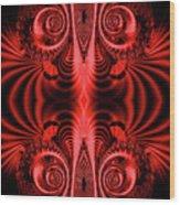 Flight Of Fancy Red Wood Print