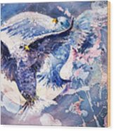 Flight Of The Doves Wood Print