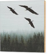 Flight Of The Eagles Wood Print