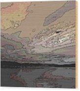 Flight Of The Gull Wood Print