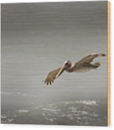 Flight Of The Pelican Wood Print
