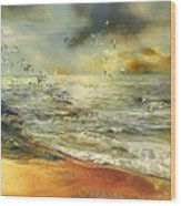 Flight Of The Seagulls Wood Print by Anne Weirich