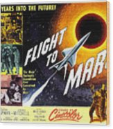 Flight To Mars, 1951 Wood Print