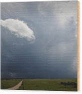 Flint Hills Rain Wood Print
