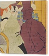 Flirt An Englishman At The Moulin Rouge 1892 Wood Print