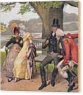 Flirtation, C1810 Wood Print