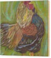 Flirty Hen Wood Print
