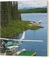 Float Planes Wood Print