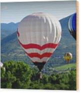 Floatin' In The Rockies 20 Wood Print