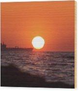 Floating Around The Sun Wood Print