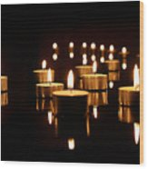 Floating Candles Wood Print
