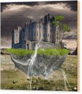 Floating Castle Wood Print