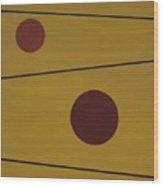 Floating Circles Wood Print