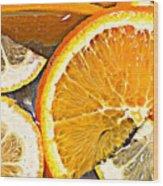 Floating Citrus Wood Print
